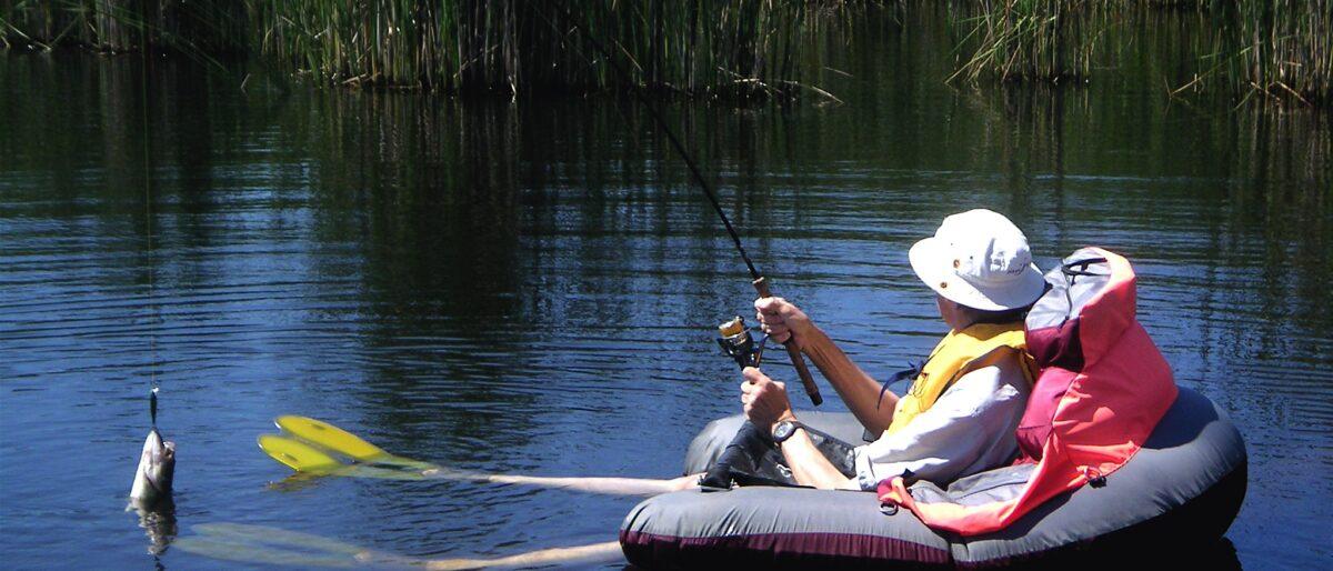 Fiskare i flyt ring
